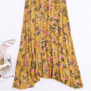 LF Skirts - LF floral maxi yellow skirt